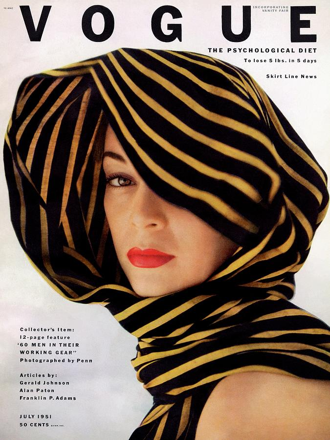 Vogue Cover Of Jean Patchett Photograph by Clifford Coffin