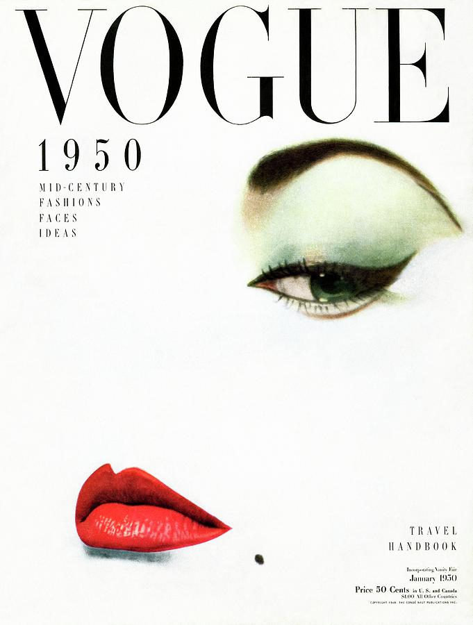 Vogue Cover Of Jean Patchett Photograph by Erwin Blumenfeld