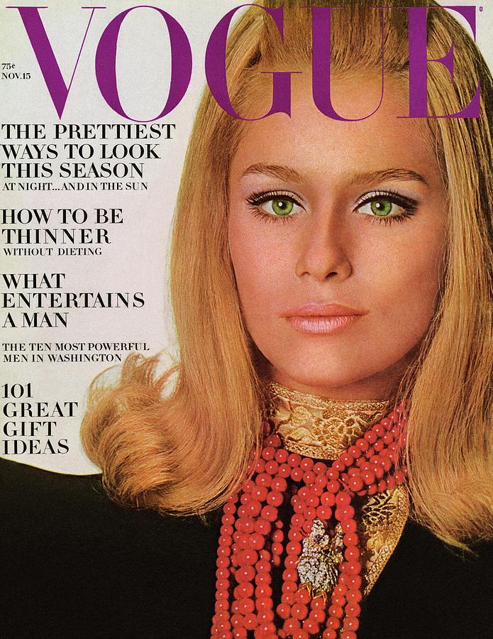 Vogue Cover Of Lauren Hutton Photograph by Bert Stern