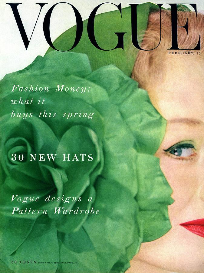 Vogue Cover Of Nina De Voe Photograph by Erwin Blumenfeld