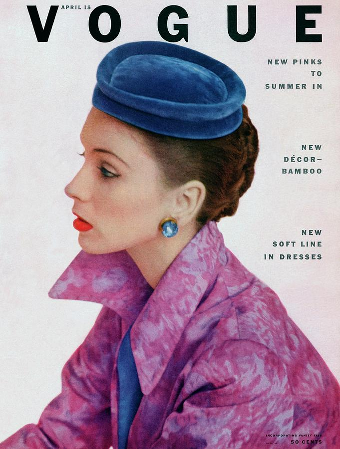 Vogue Cover Of Suzy Parker Photograph by John Rawlings