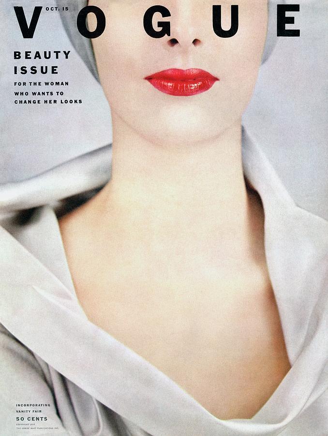 Vogue Cover Of Victoria Von Hagen Photograph by Erwin Blumenfeld
