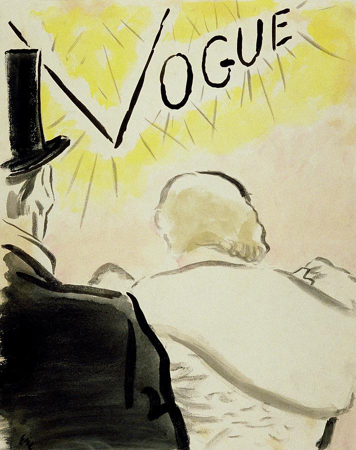 Vogue Magazine Cover Featuring A Couple Seen Digital Art by Carl Oscar August Erickson