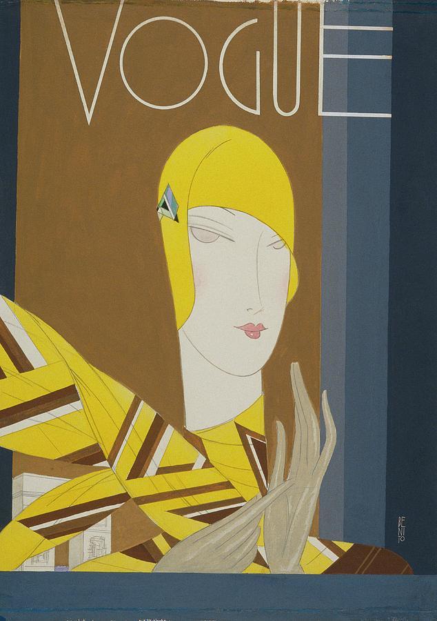 Vogue Magazine Cover Featuring A Portrait Digital Art by Eduardo Garcia Benito