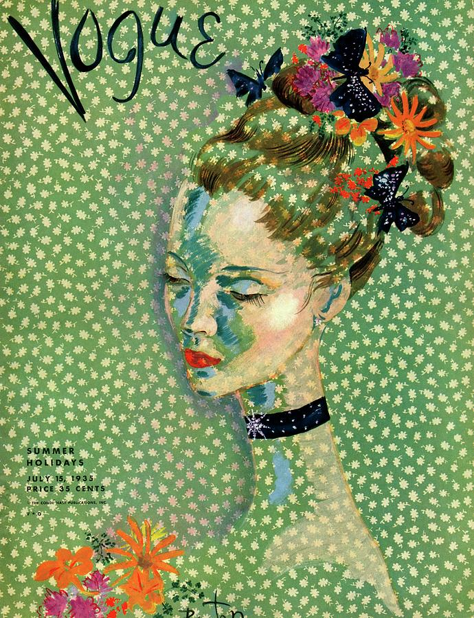 Vogue Magazine Cover Featuring A Woman Photograph by Cecil Beaton