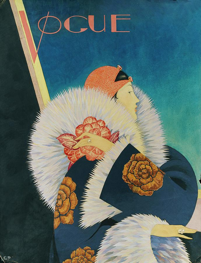 Vogue Magazine Cover Featuring A Woman Wearing Digital Art by George Wolfe Plank