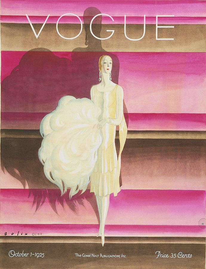 Vogue Magazine Cover Featuring A Woman Wearing Digital Art by William Bolin