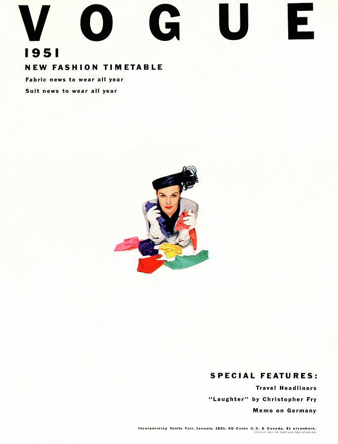 Vogue Magazine Cover Featuring Model Lillian Photograph by Erwin Blumenfeld