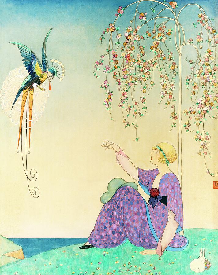 Vogue Magazine Illustration Of Woman Reaching Digital Art by George Wolfe Plank