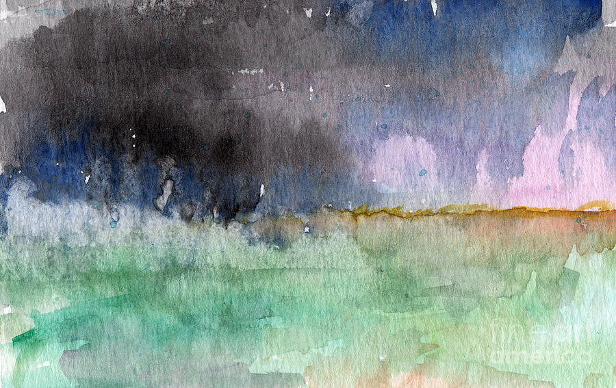 Abstract Landscape Painting - Voices Carry by Linda Woods