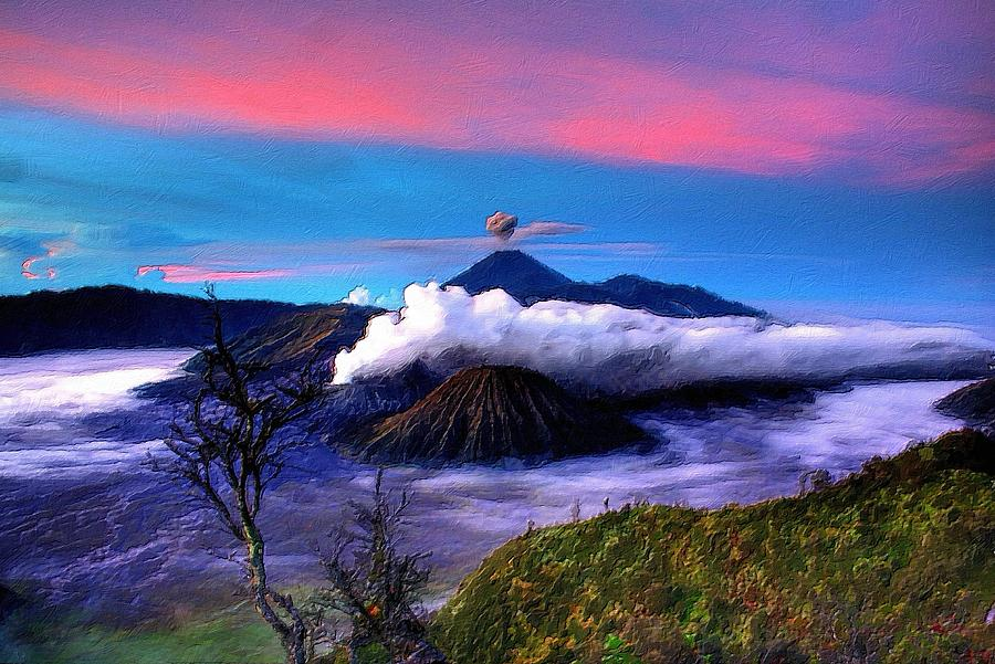 Volcano In The Clouds by Florian Rodarte