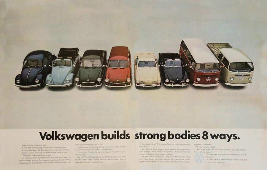 Volkswagen Facts Digital Art by Georgia Fowler
