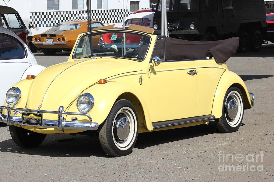 Volkswagen Convertible Vintage by The Art of Alice Terrill
