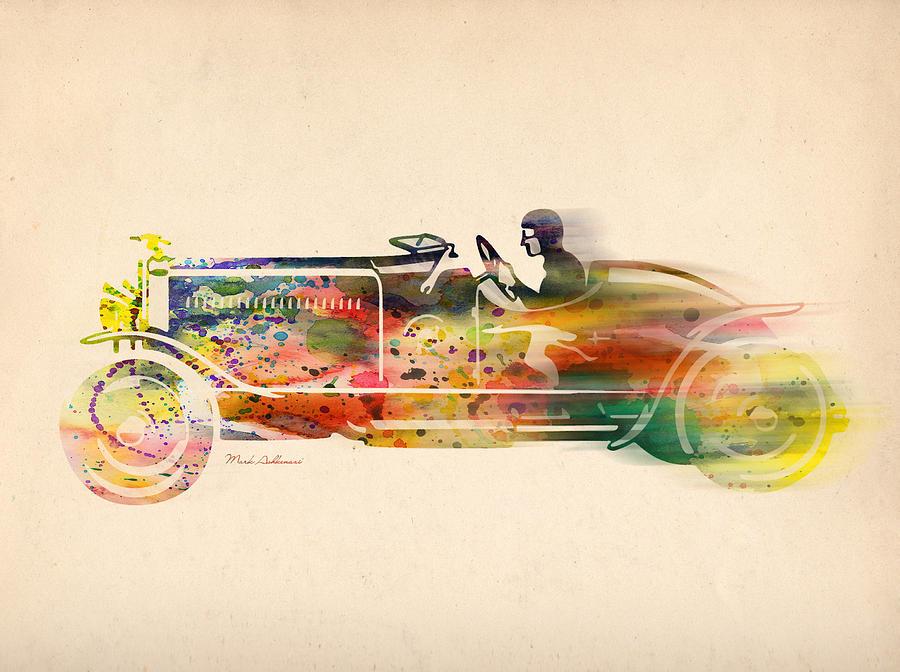 Car Digital Art - Volkswagen by Mark Ashkenazi
