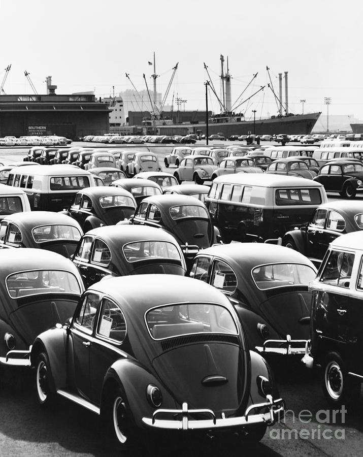 America Photograph - Volkswagen Shipment by M E Warren