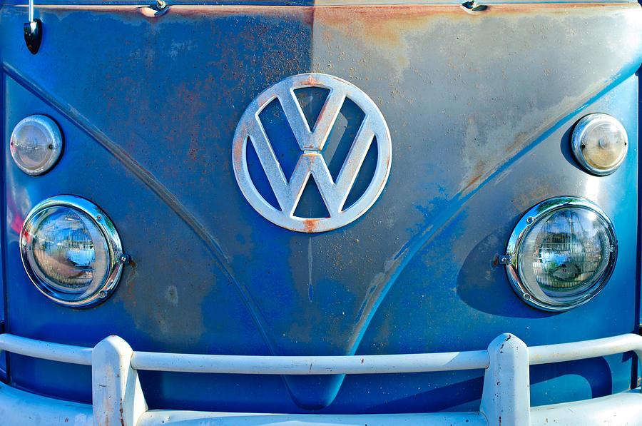 f9c49d2da Classic Car Photograph - Volkswagen Vw Bus Front Emblem by Jill Reger