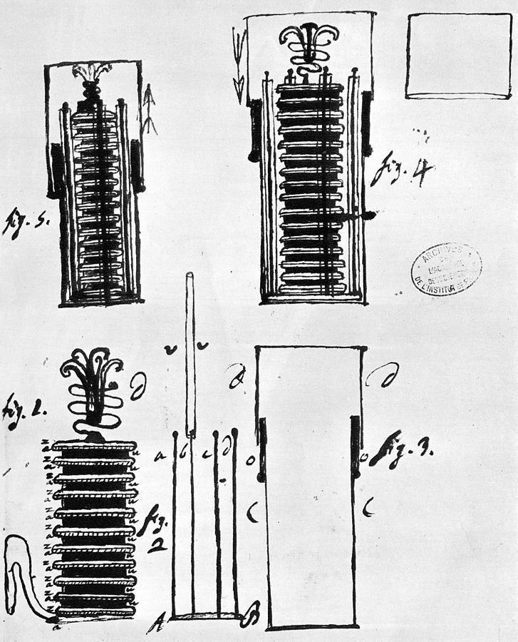 1801 Photograph - Voltaic Pile, 1801 by Granger