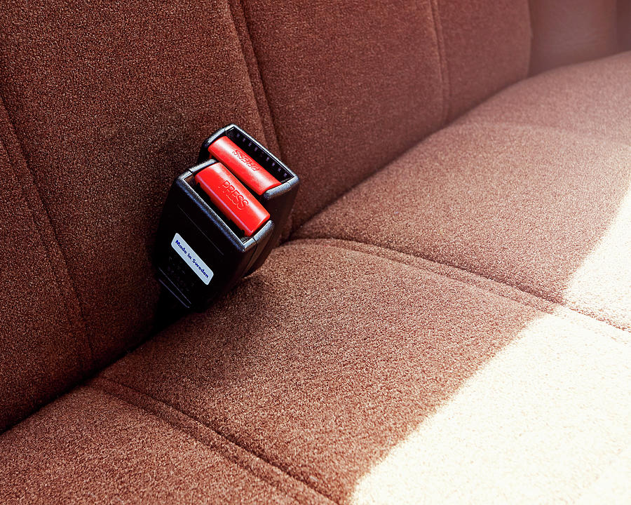 Volvo Rear Seat Buckle Photograph by Mark Leary
