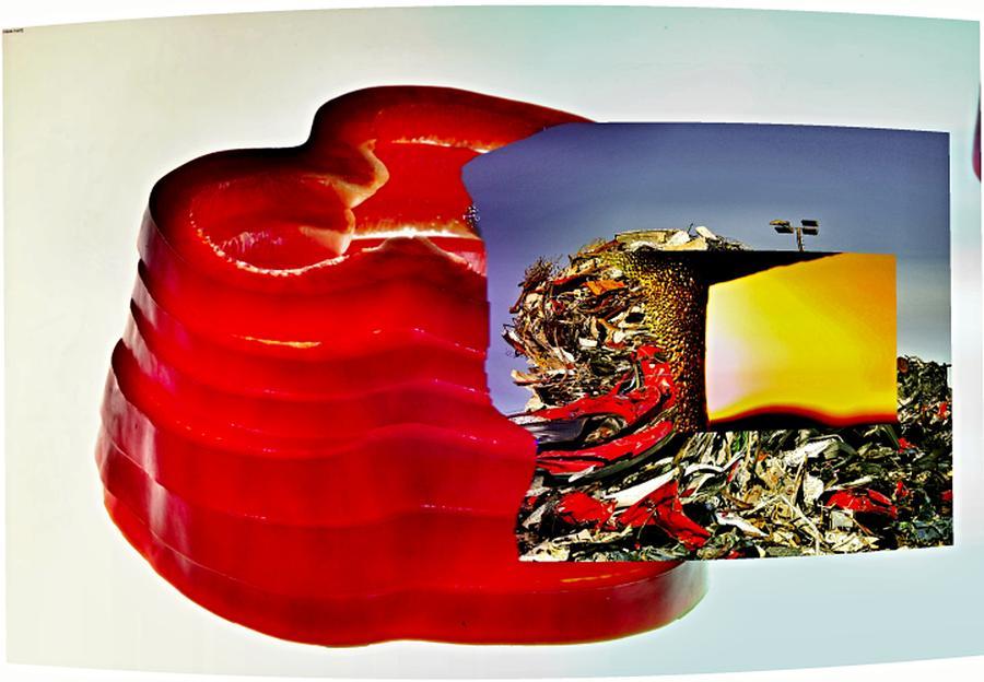 Gastronomie Digital Art - Von Allem by Klaas Hartz