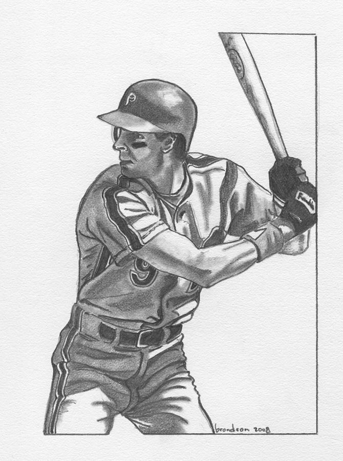 Sports Drawing - Von Hayes by Brian Condron