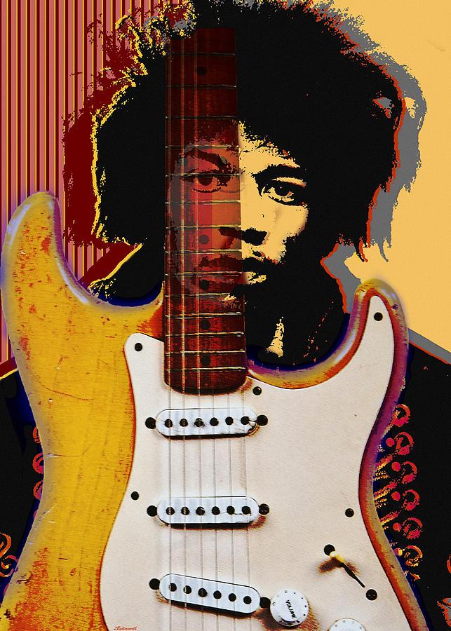 Jimi Hendrix Digital Art - Jimi Hendrix by Larry Butterworth