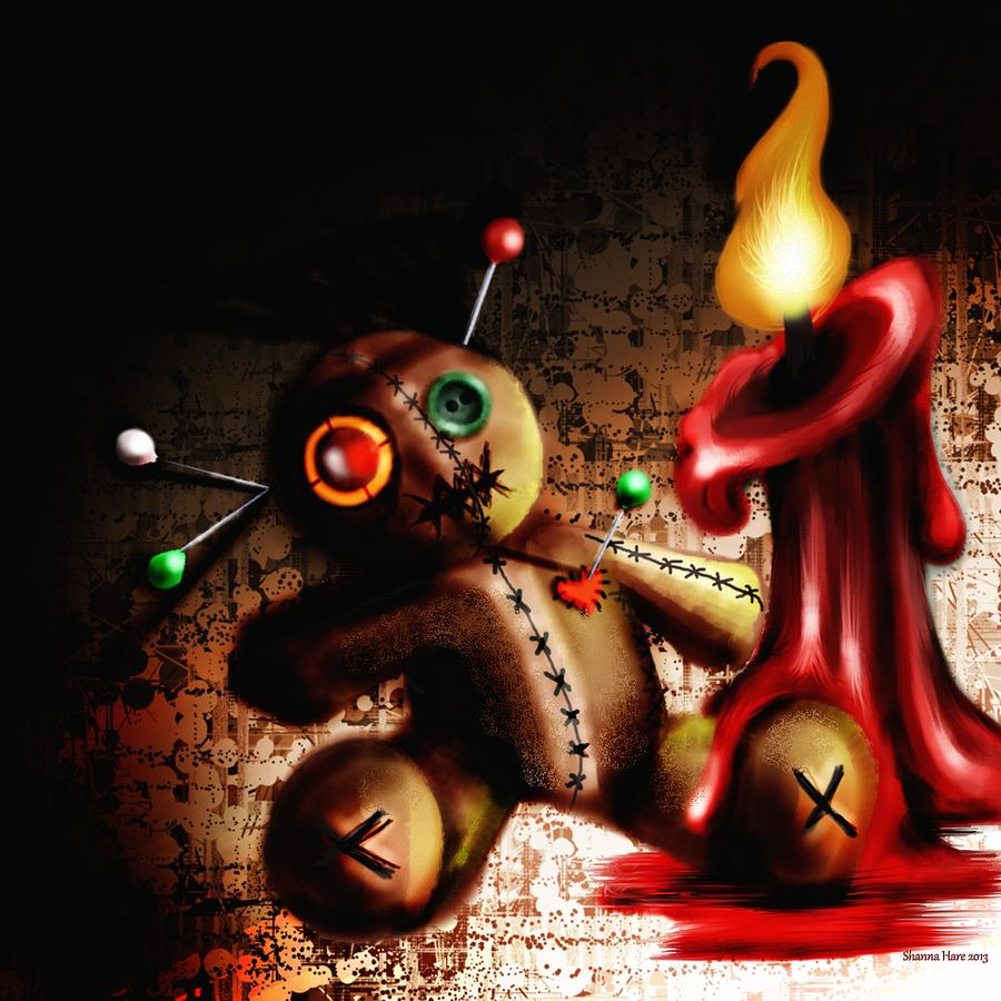 Voodoo Doll Digital Art By Shanna Hare