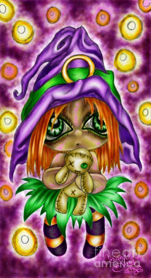 Voodoo Digital Art - Voodoo Plushie by Coriander  Shea