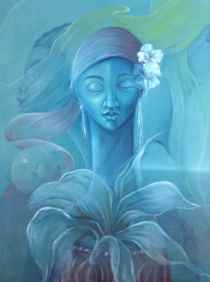 Voodoo Priestess by Haitian artist