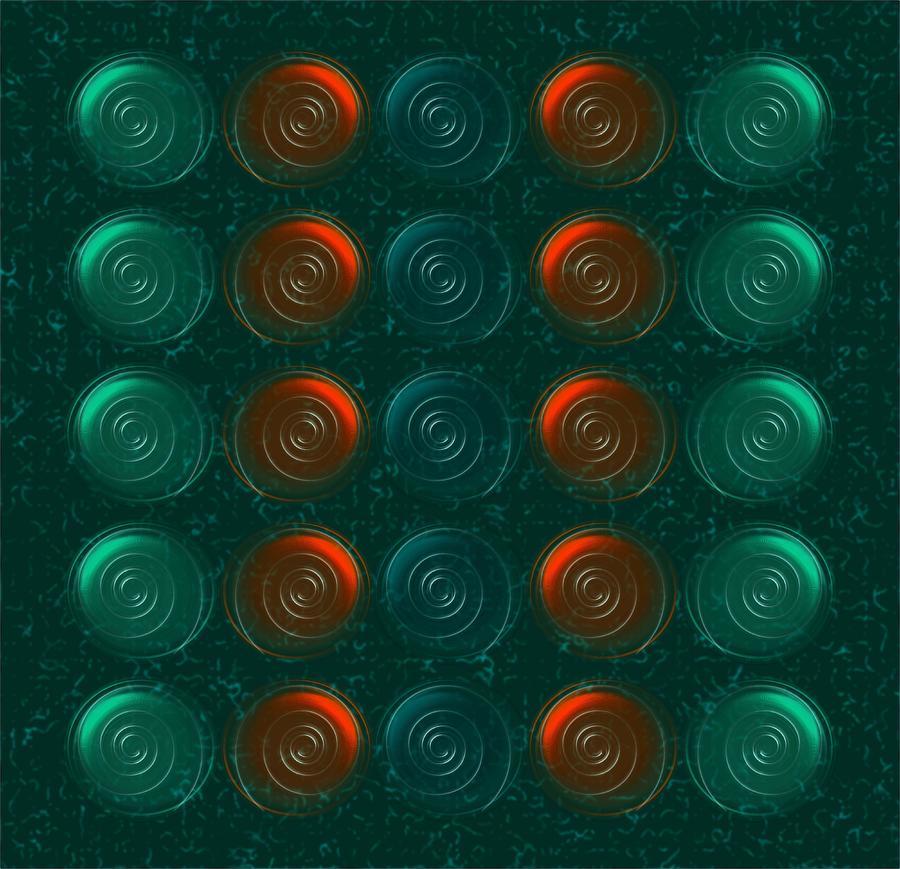 Abstract Digital Art - Vortices by Anastasiya Malakhova