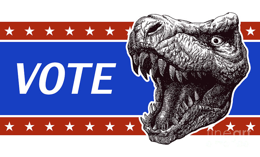 Country Digital Art - Vote - Presidential Election Poster by Rlrrlrll