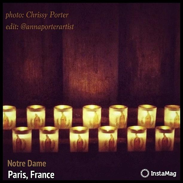 Votive Photograph - Votive Candles - Notre Dame Cathedral by Anna Porter