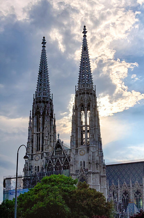 Vienna Photograph - Votive Church Towers by Viacheslav Savitskiy