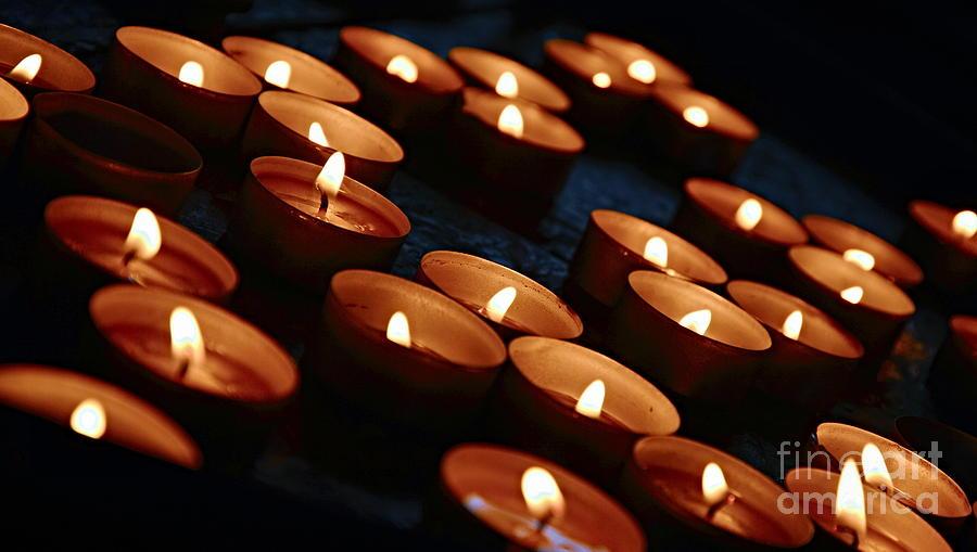 Candles Photograph - Votives by Steven Liveoak