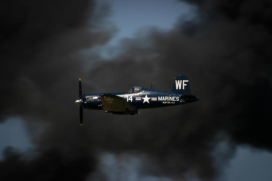 3scape Photos Photograph - Vought F4u Corsair by Adam Romanowicz