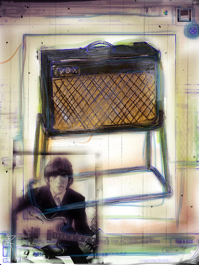 Vox Mixed Media - Vox And George by Russell Pierce