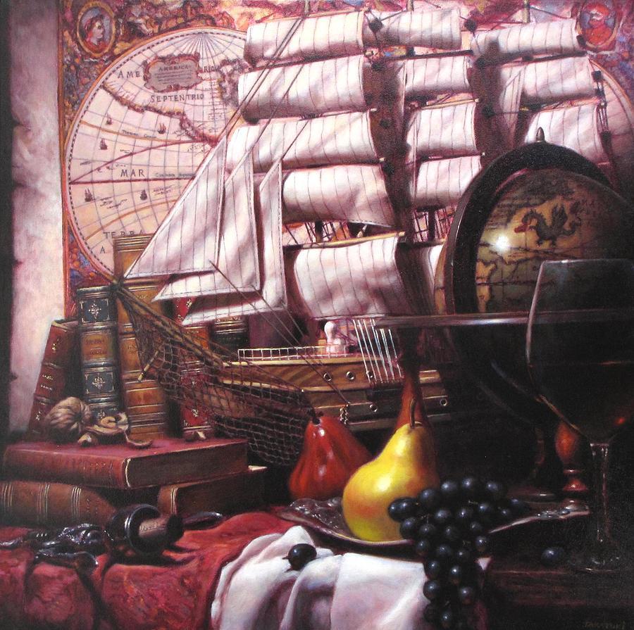 Still Life Painting - Voyage Round The World by Takayuki Harada