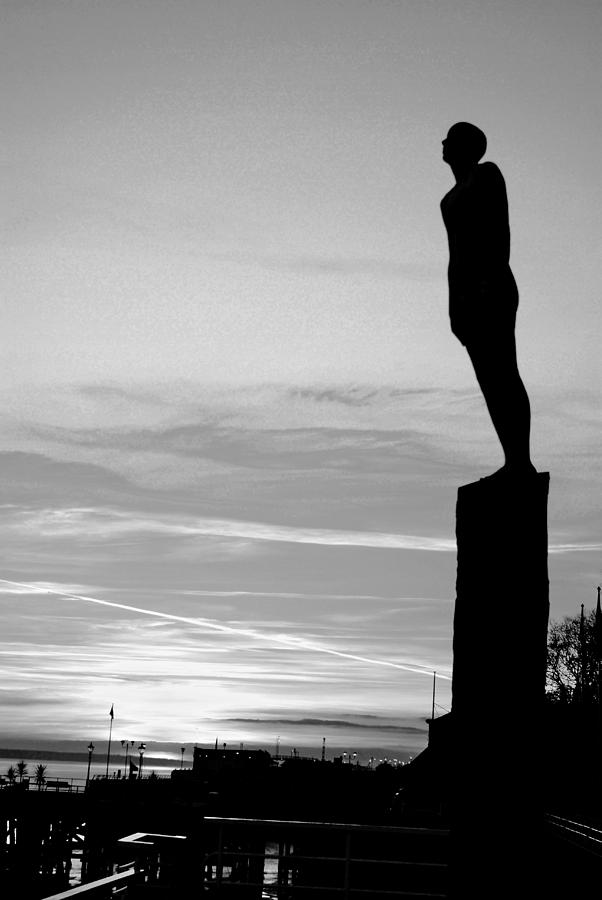 Voyage Photograph - Voyage Statue Hull by Anthony Bean