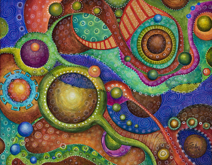 Circles Painting - Voyage by Tanielle Childers