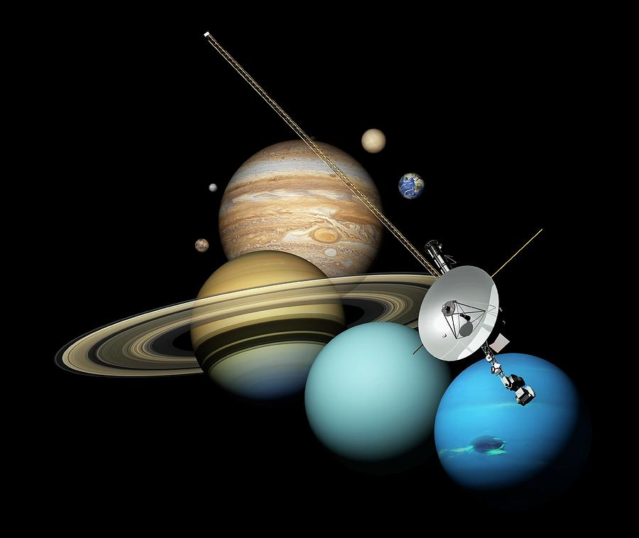 Voyager 2 Photograph - Voyager 2 And Planets by Carlos Clarivan