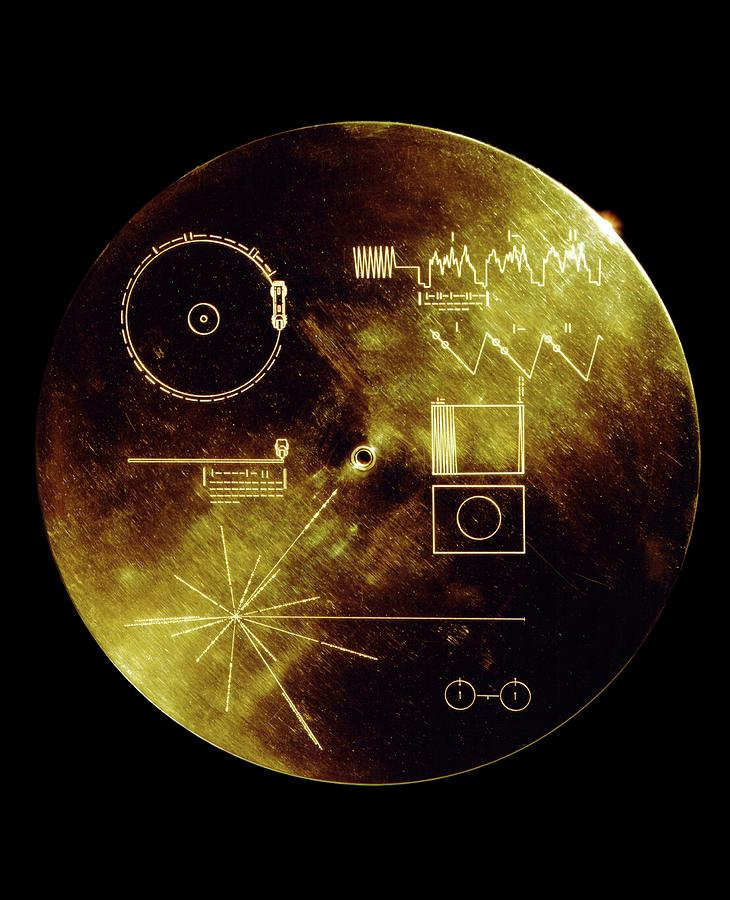 Voyager Photograph - Voyager Spacecraft Plaque by Nasa/science Photo Library