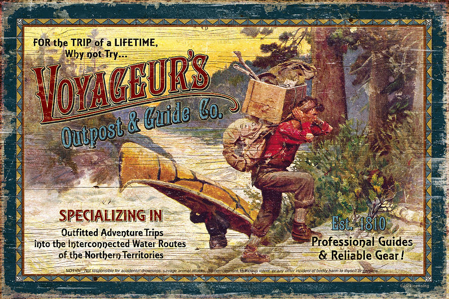 Voyageurs Outpost Painting By Jq Licensing