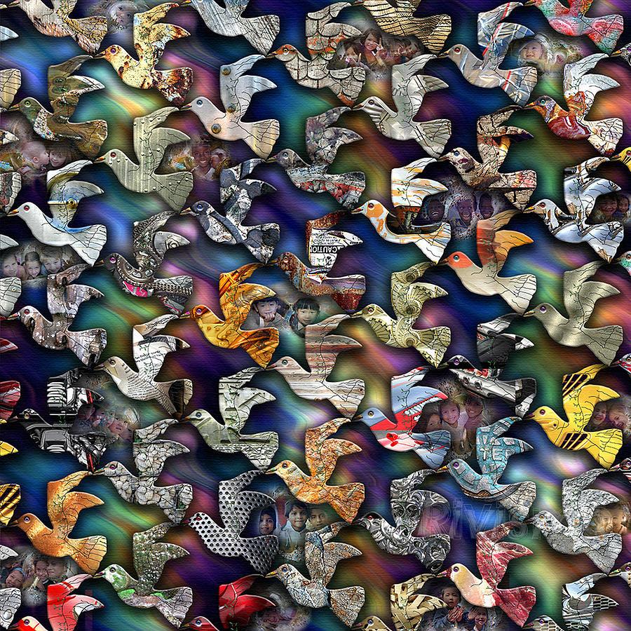 Viaje Painting - Vuelo De La Esperanza by Ramon Rivas - Rivismo