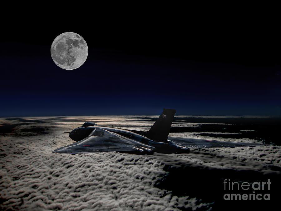 Raf Digital Art - Vulcan At Night by Paul Heasman