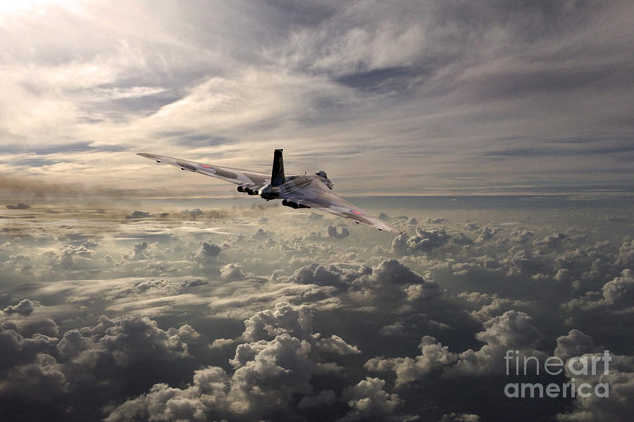 Avro Vulcan Digital Art - Vulcan Farewell  by J Biggadike