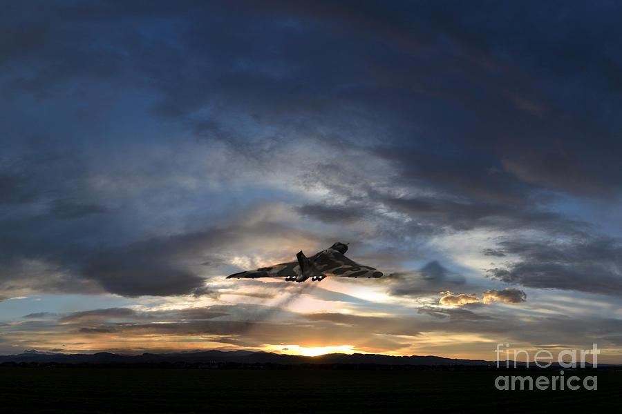Vulcan Digital Art - Vulcan Take Off by J Biggadike