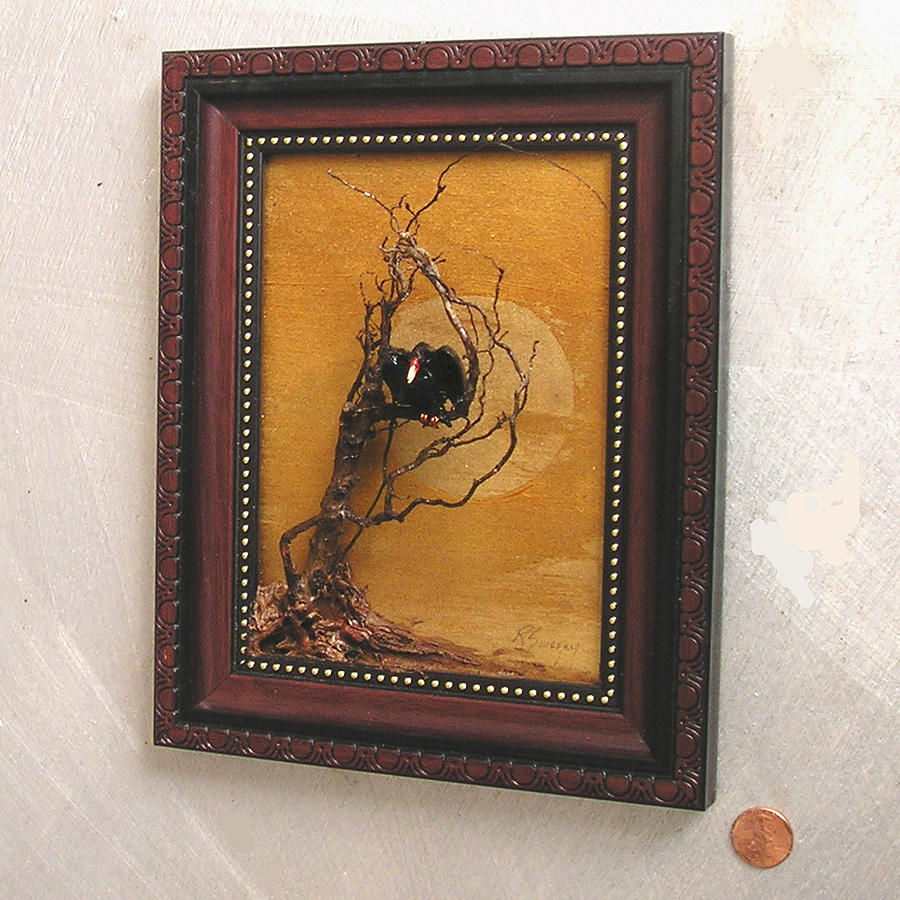 Sculpture Painting - Vulture With Gold Sun by Roger Swezey