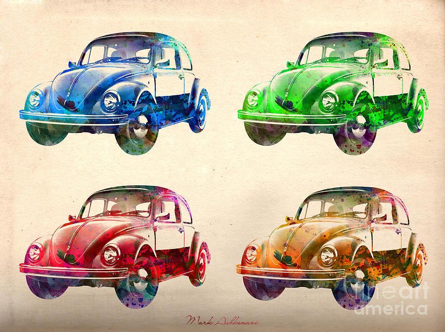 Car Digital Art - Vw 2 by Mark Ashkenazi