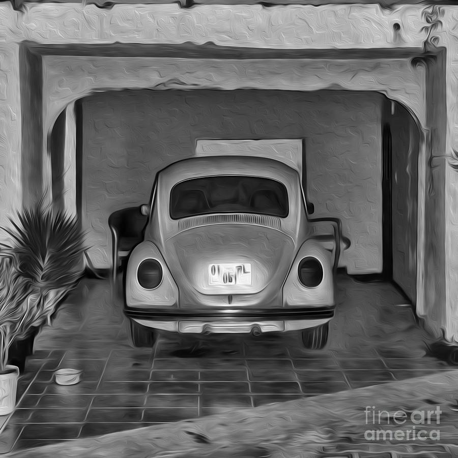 Car Painting - Vw Beetle Digital Painting by Antony McAulay