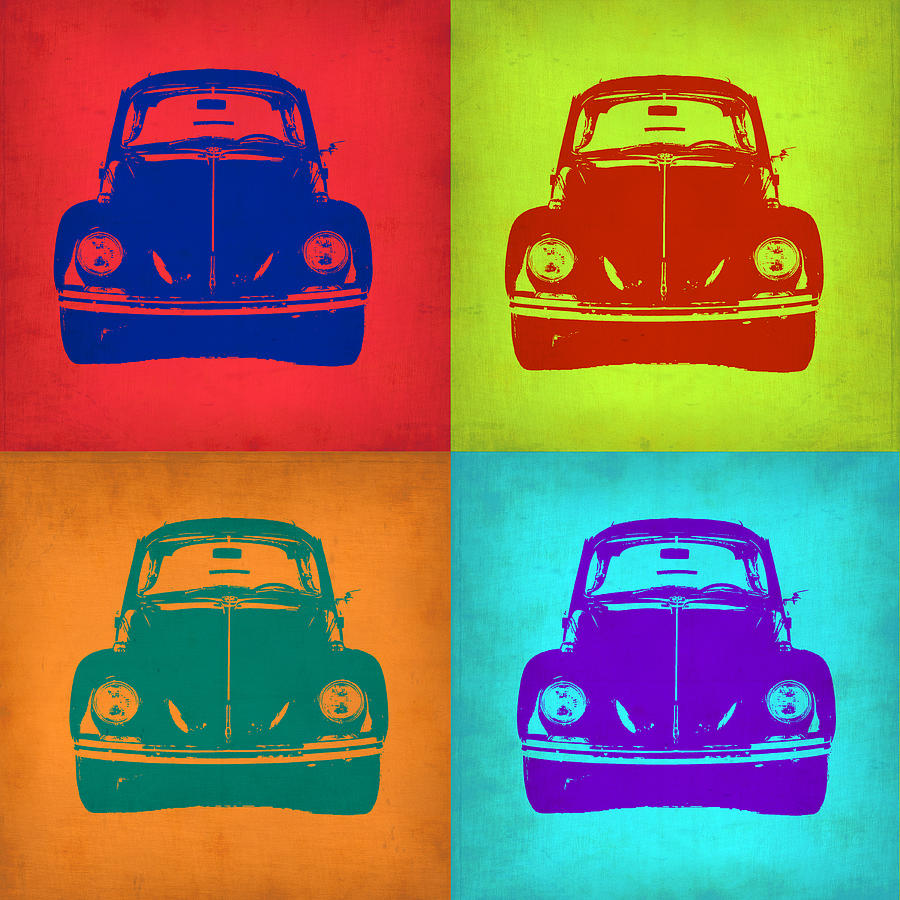 Vw Beetle Pop Art 5 Painting By Naxart Studio