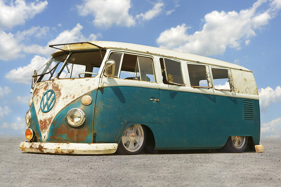Vw Lowrider Bus Photograph By Mike Mcglothlen